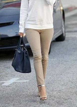 💥1+1=3 фирменные зауженные узкие джинсы скинни мокко blue motion, размер 44 - 46