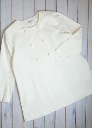 💥1+1=3 стильное молочное пальто миди phidar, размер 50 - 52