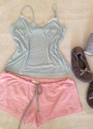 Пижамка в горошек и много моих вещей дешево! торг!!!