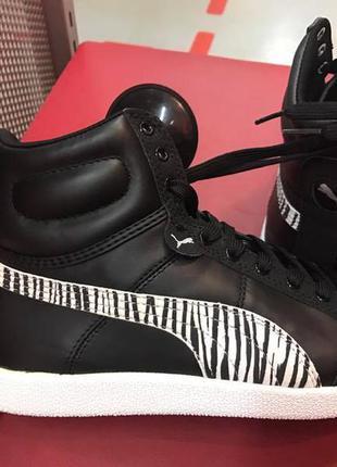Шкіряні високі черевики puma .оригінал