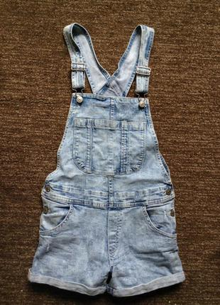 Комбинезон джинсовый р. xs/s цена-185
