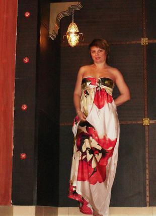 Шелковое платье-бюстье zara