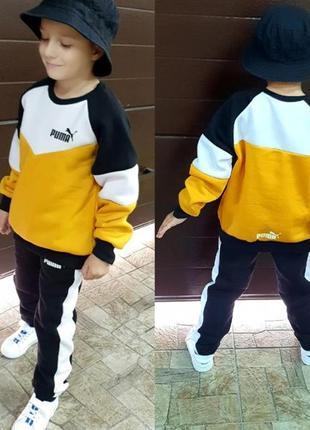 Теплий спортивний костюм дитячий (128-170) мод110
