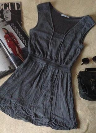 Мини-платье mango (эксклюзивная коллекция лето 2015) с аккуратной вышивкой