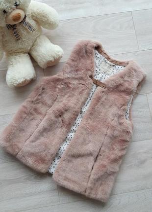 Zara меховая жилетка