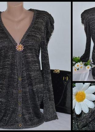 Шикарная брендовая тонкая накидка блуза f&f