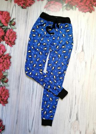 🌿домашние штанишки с пингвинами от next. размер m - l🌿