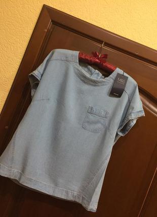 Джинсовая футболка