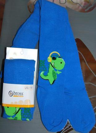 Демисезонные колготы bross 1-3, 5-7 бросс динозавр