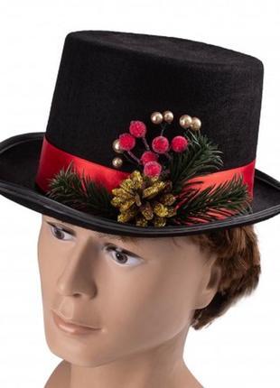 Шляпа маскарадная новогодняя мужская