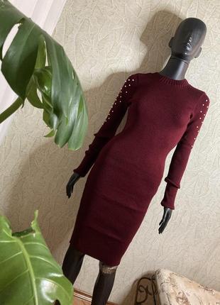 Платье 👘 лапша карандаш тёплое вязка