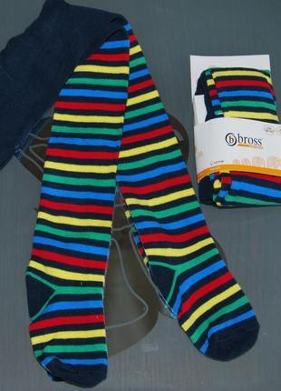 Демисезонные колготы bross 5-7  бросс турция разноцветные полоски