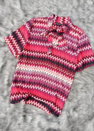 Блуза кофточка с геометрическим принтом dorothy perkins