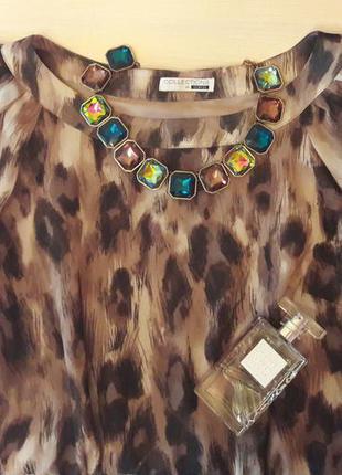 Платье, туника, длинная шифоновая блузка, р38