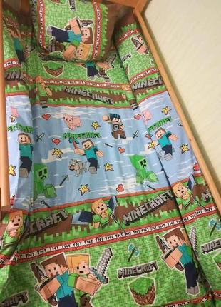 Minecraft крутое детское постельное белье