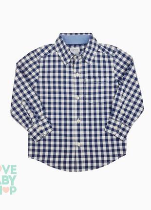 Сорочка в клітинку для хлопчика картерс рубашка в клеточку для мальчика carter's