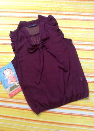 Майка - блузу цвета марсала m