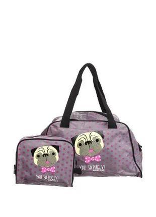 Детская ,подростковая,женская дорожная сумка с косметичкой david&goliath
