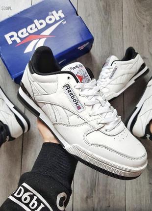 Мужские кроссовки rebook classic white/black
