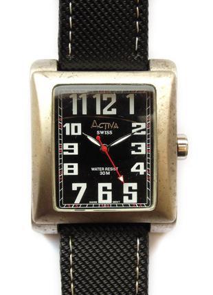 Activa swiss крупные мужские часы со швейцарским механизмом