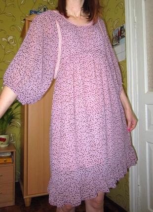 Шикарное нежное летнее платье турция размер хс-с.