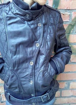 Оригинальная кожаная куртка only
