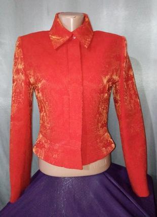 Брендовый стильный шерстяной пиджак жакет