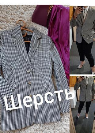 Стильный шерстяной жакет/пиджак в клетку hirsch stretch, p. 40