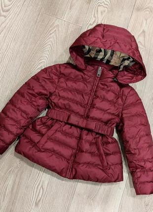 Красивая тепленькая куртка бордо burberry холодная осень