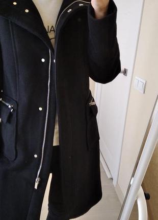 Теплое шерстяное пальто h&m р.38