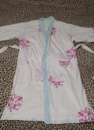 Классный двухстонний халат, на 48-50