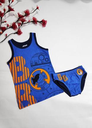 Набор комплект белья star wars синий с оранжевым