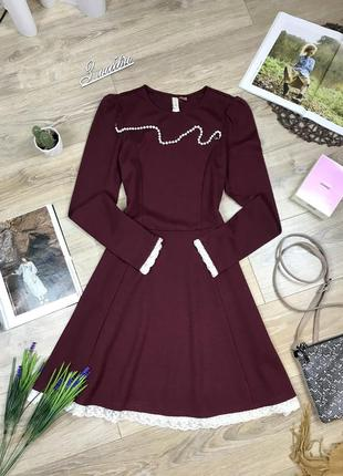 H&m очень красивое игривое плотное платье с кружевом 🔥