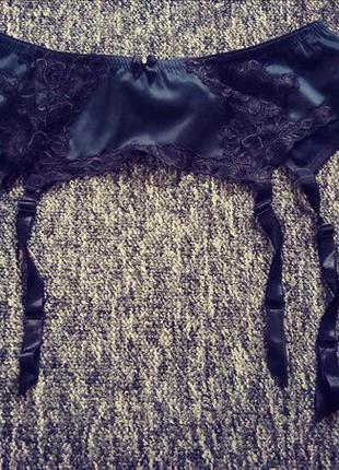 Красивый качественный пояс подтяжки для чулков lingerie
