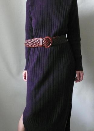 Теплое платье-макси 100%кашемир