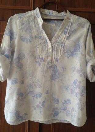 Блузка рубашка 100% натуральный лен.