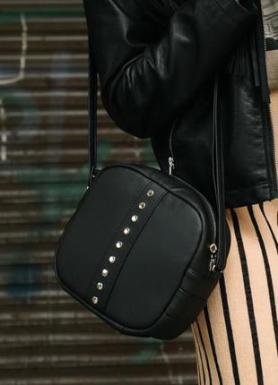 Сумка через плече кросбоді сумочка женская через плечо кроссбоди кросбоди черная стильная