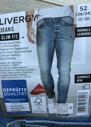 Качественные крутые  джинсы slim fit / livergy / германия