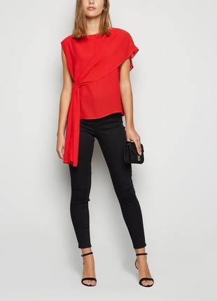 New look.товар из англии. шикарная блуза в элегантном стиле с воланами и драпировкой.