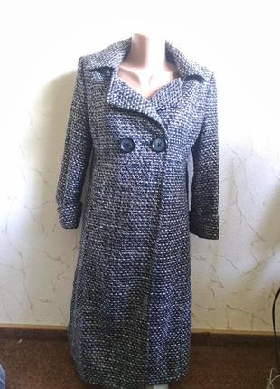 Пальто из фактурной ткани