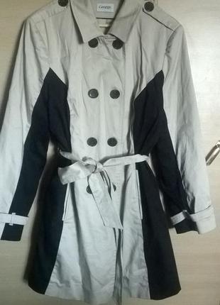 Элегантное стройнящее пальто с пояском большой размер