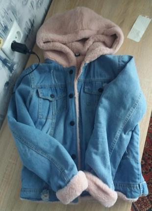 Куртка мєховушка джинсова