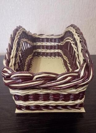 Плетёная корзина из лозы