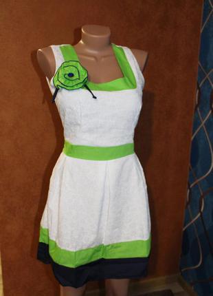Хлопковое молодежное платье роза, р. m (44)