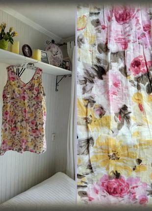 Свободное батистовое платье большой размер, оверсайз