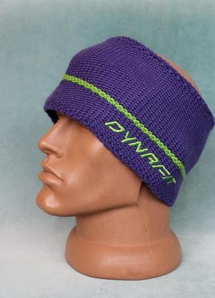 Dynafit® winterheadband hand knit повязка шерстяная с флисовой подкладкой