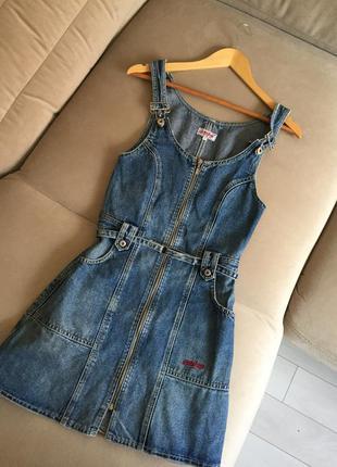 Комбинезон джинсовый (юбка)