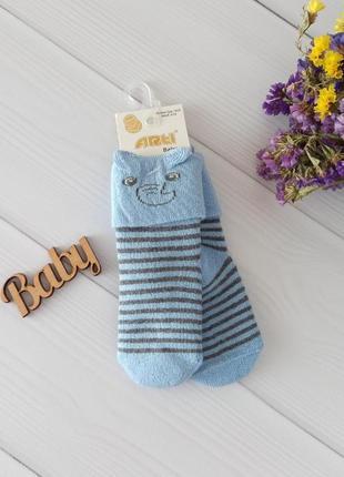 Тёплые махровые носочки с ушками для малышей 0-18 мес. турция арти