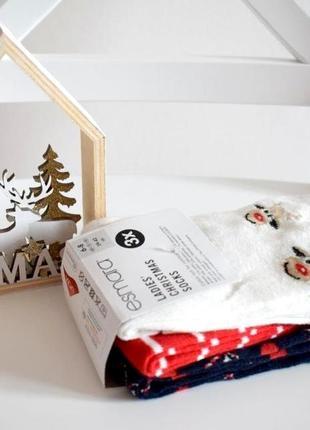 Яркие новогодние носки esmara 39-42  набор 3шт