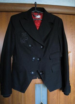 Двубортный шерстяной пиджак пальто, полу-пальто, жакет, пиджак, шерсть, кашемир,  турция